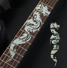 Nouveau croix incrustation décalcomanies Fretboard autocollant pour guitare acoustique électrique basse Ultra mince autocollant accessoires guitare 4 Styles