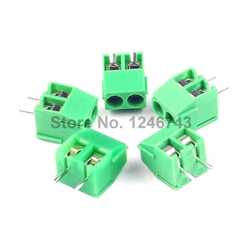 50 piezas bloque de terminales de tornillo conector KF350-2P paso 3,5 MM 3,5mm