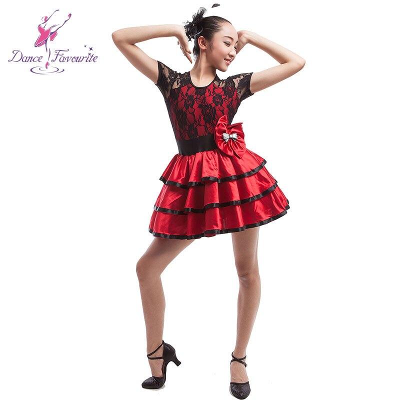 Mujer puesta en escena traje de baile lady ballet tutu ballet vestido para escenario negro/rojo traje de baile vestido