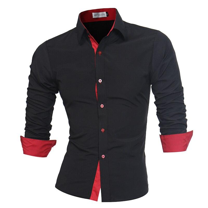 Мужская рубашка, черная, с длинным рукавом, большого размера 4XL