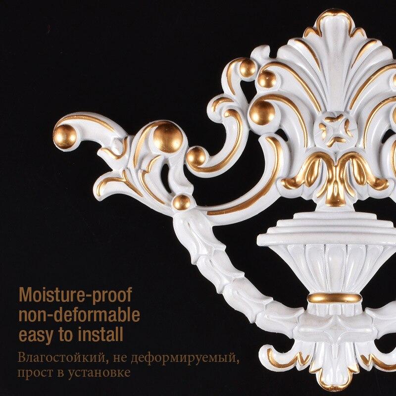 Puerta corredera, blíster, flor en relieve, muebles europeos tallados, madera sólida de decoración, aplique plano, accesorios de línea de fondo