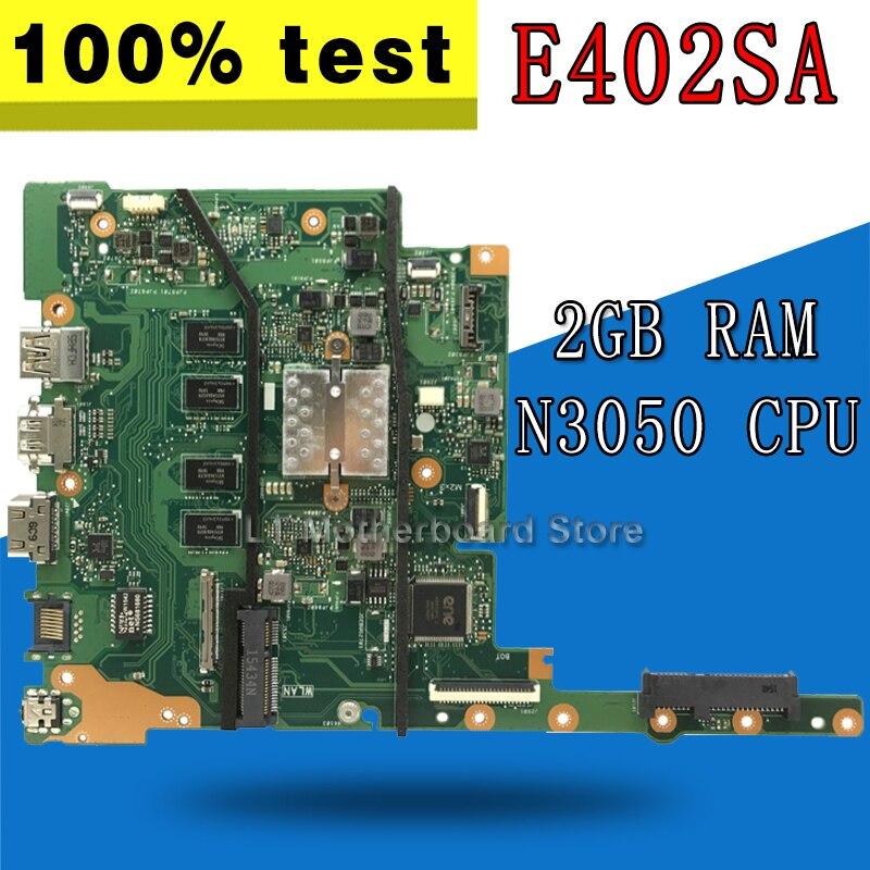 E402SA motherboard 2GB N3050 para For Asus E402SA E502SA E402S E502S E402 E502 placa base de computadora portátil E502SA placa base E402SA placa base