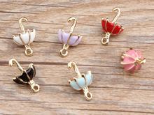 100 pçs popular 3d guarda-chuva pingente diy jóias acces sories de colar pulseira qq27