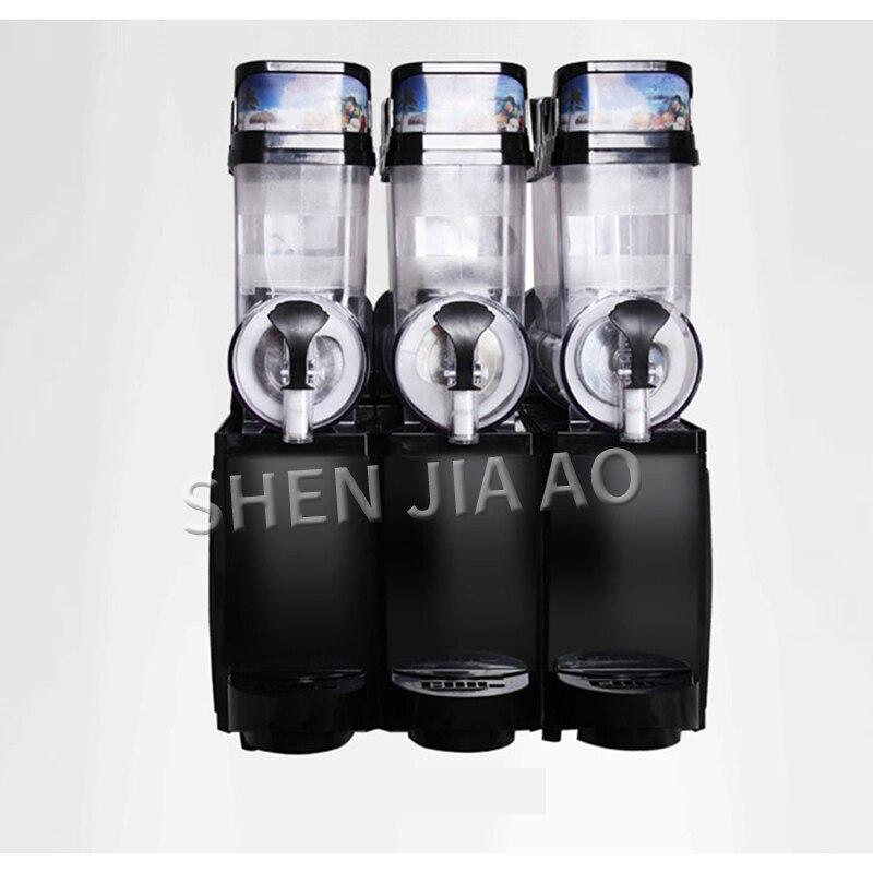 Snow melting machine commercial 3-cylinder TKX-03 ice Slush Machine snow mud maker beverage machine cold drink makers 45L 220V