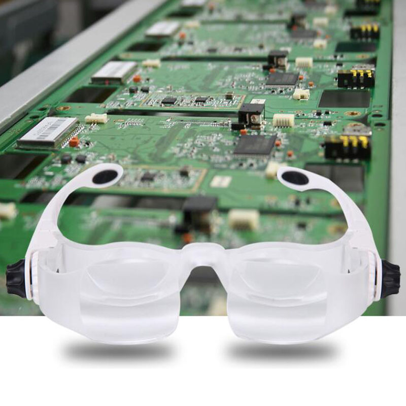 Usando binoculares lupa 3.8X 4X aumento portátil lupa de vidrio desmontable fFocusing lupa de vidrio