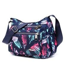Sac à bandoulière mode motif Floral femmes sac à main en Nylon imperméable de haute qualité sac à main de loisirs femme en Nylon multi-poches sac Messenger