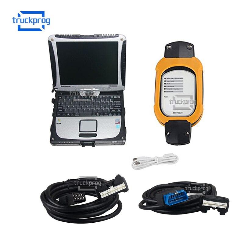 For Volvo Vcads 88890020/88890180 diagnostic kit+PTT 2.7 DEV2 Trucks buses excavator diagnostic tool+CF19 Laptop