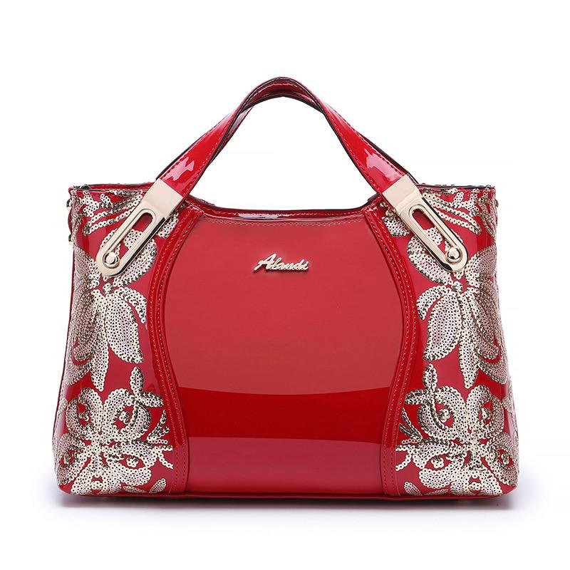 New Fashion Mulheres Travesseiro Bolsas Europeu Flor Senhoras de Couro Sacos de Ombro Saco Crossbody Menina Feminino Marca de Luxo