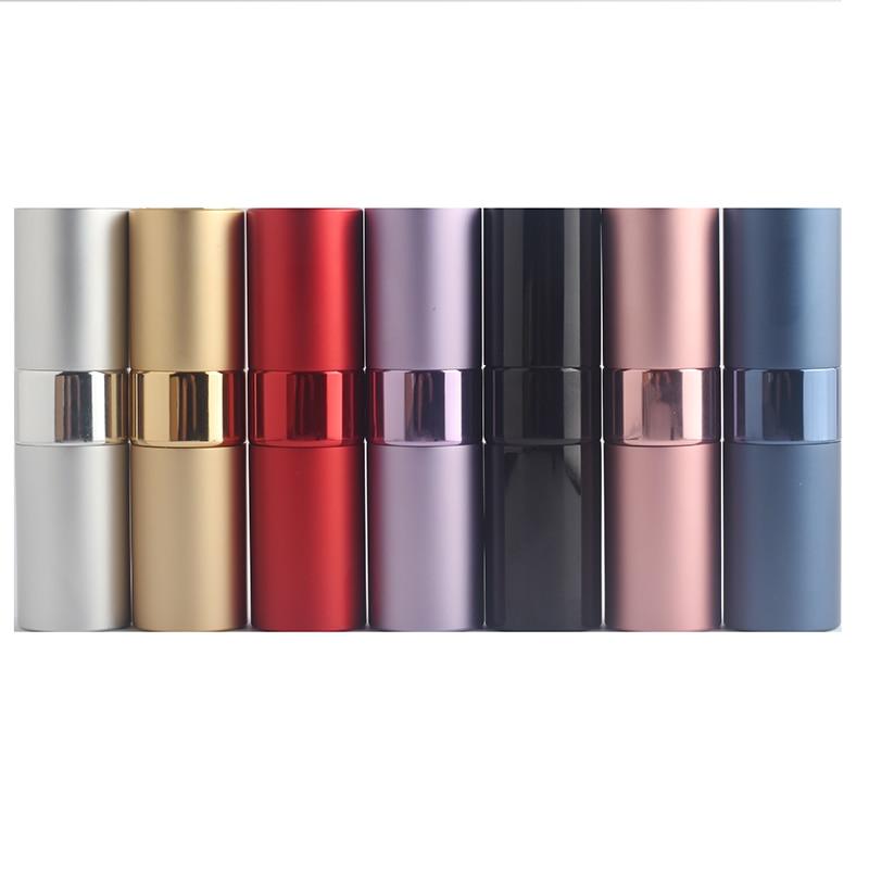 15Ml Mini Portable Refillable Perfume Bottle Travel Aluminum Atomizer Personal Care Glass Cosmetic C