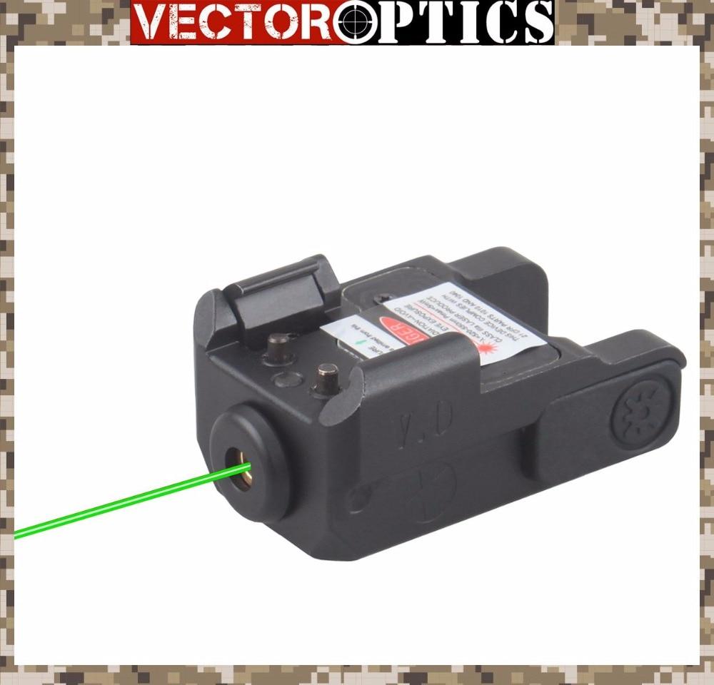 Sistema ótico do vetor blitz pistola mini mira laser verde 29mm 1.1 polegada ajuste glock springfield smith & wesson compacto pistola