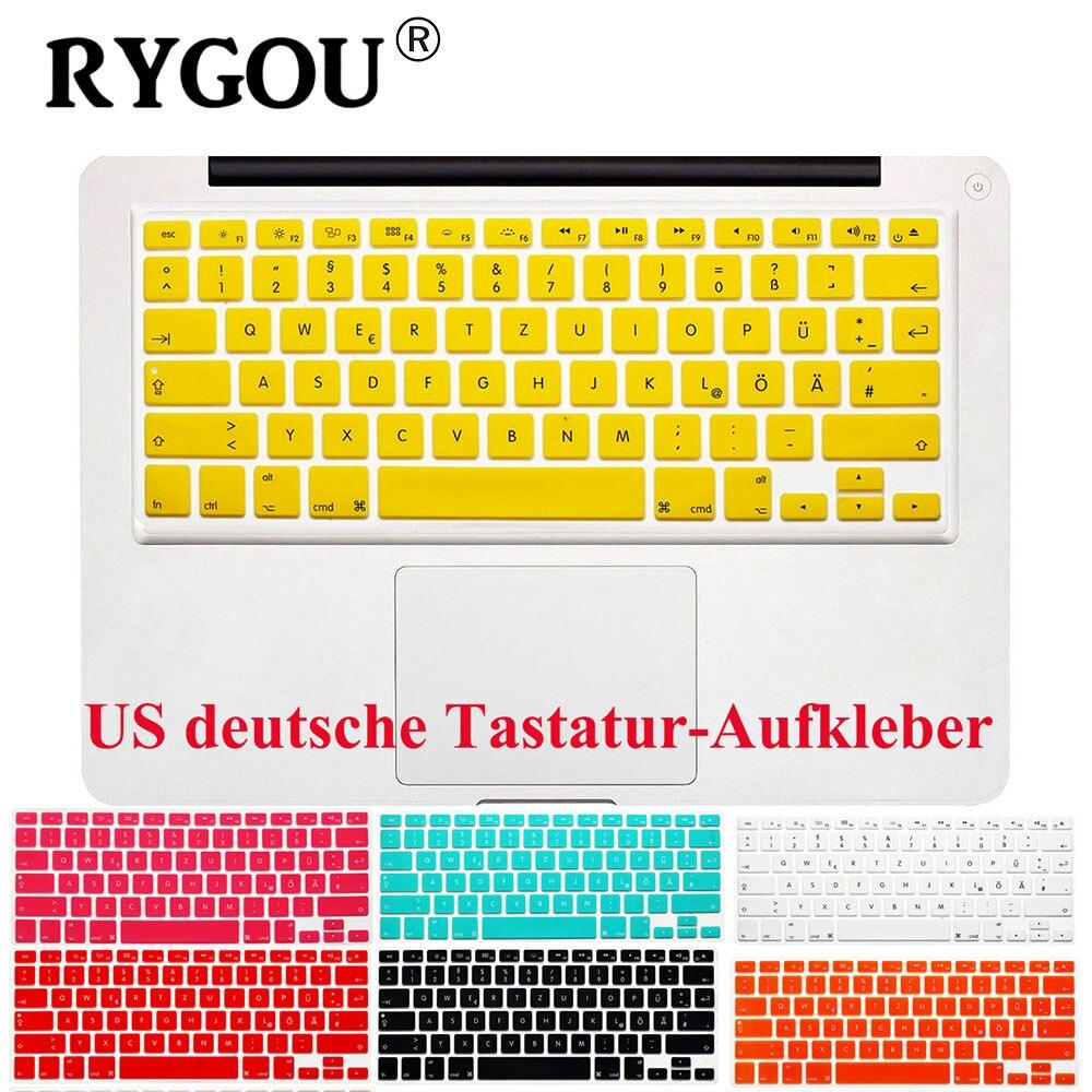 Disposition américaine lettres allemandes Deutsche Alphabet clavier autocollants pour Macbook Pro 13