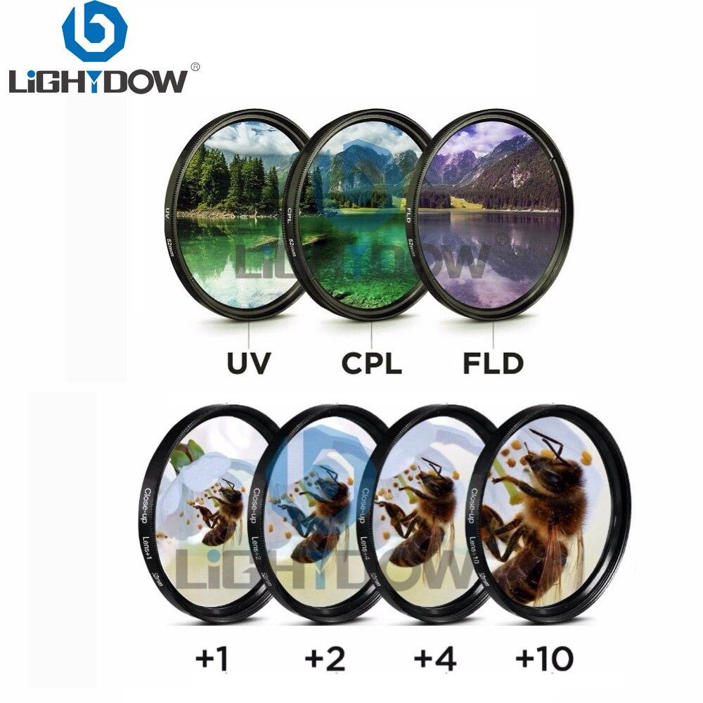 Lightdow 7 في 1 عدسة مجموعة مرشح قرب + 1 + 2 + 4 + 10 الأشعة فوق البنفسجية CPL FLD تصفية ل كانون نيكون سوني بنتاكس أوليمبوس لايكا كاميرا عدسة