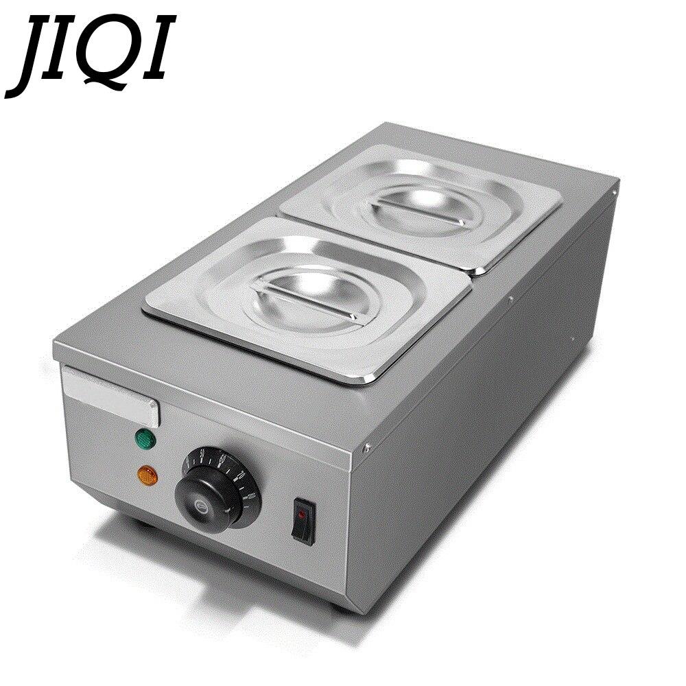 JIQI סירי היתוך שוקולד מסחרי כפול חם dipping שוקולד מכונה היתוך צילינדר חשמלי חם melter 2 סריגים