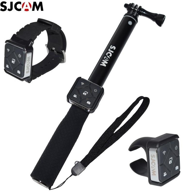 SJCAM-جهاز تحكم عن بعد لعصا السيلفي مع بطارية وجهاز تحكم عن بعد ، حامل أحادي لـ M20/SJ6/SJ7/SJ8/pro /SJ9/SJ10/ A10