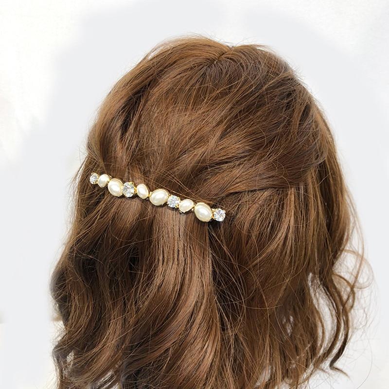 Chimera frisado hairpin para as mulheres de cristal de noiva clipe de cabelo luxo barrette moda strass liga metal ornamento de cabelo acessório