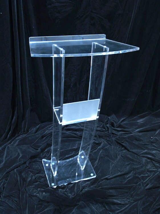 Plataforma acrílica transparente/lectero de Iglesia Perspex/púlpito de iglesia de plexiglás