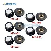 5 teile/los MF-A01 MF-A02 MF-A03 MF-A04 MF-A05 6mm Kunststoff Dreh Potentiometer Knob Schalter Kappen Kit Für WH118 WX050 WX030 WX010