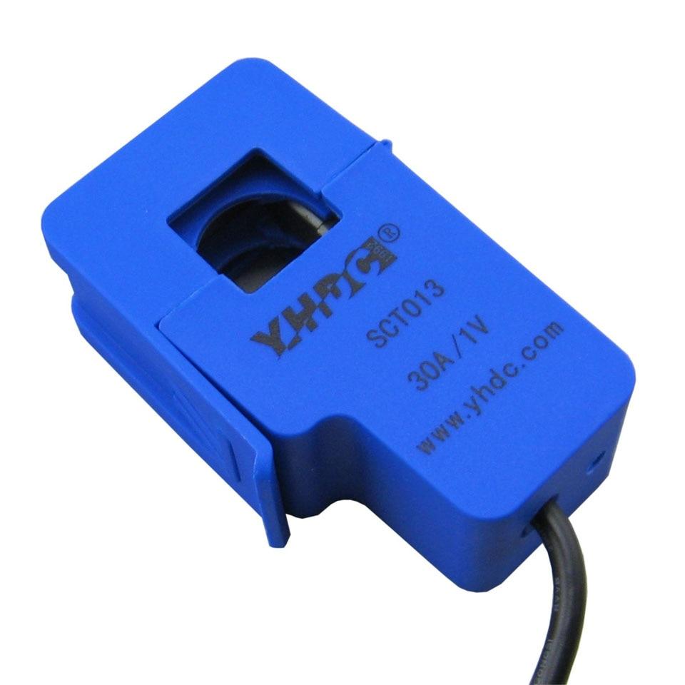 YHDC 30A SCT013 0-30A неинвазивный AC новый датчик сплит-сердечника трансформатор тока новый
