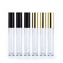 30/50 pces ouro/prata/tampa preta vazio tubo lipgloss batom líquido delineador sobrancelha beleza maquiagem caso do produto caixa recarregável