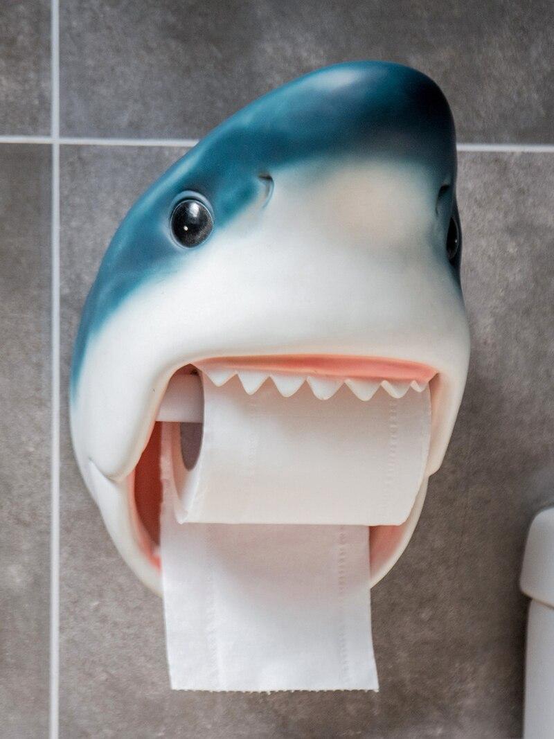 Decorativo Pendurado Na Parede Do Banheiro Caixa de Tecido Durável Animais Tubarão Golfinho Papel Higiênico Papel Titular Rolo de Papel Higiénico Titular
