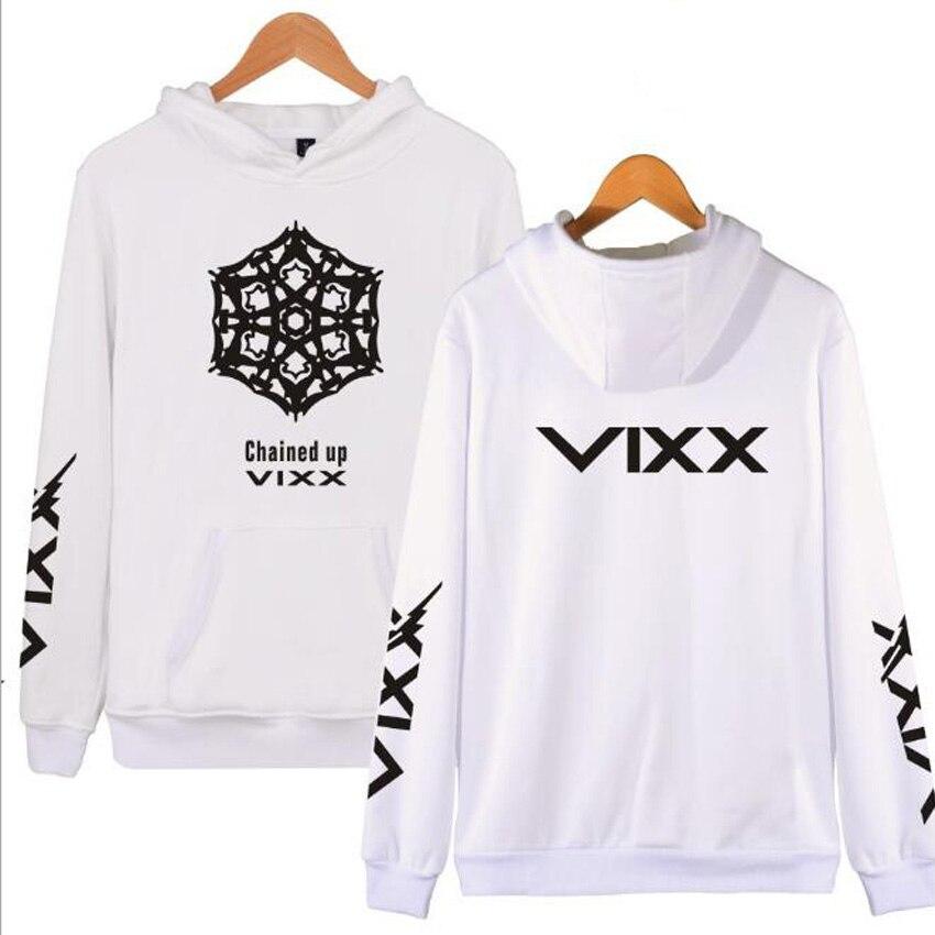 K POP K-POP KPOP VIXX sweat à capuche pour femme enchaîné N HONGBIN LEO RAVI HYUK KEN veste à capuche polaire à manches longues grande taille