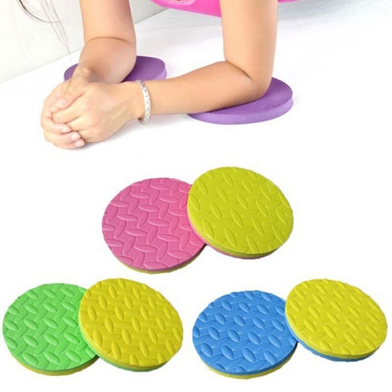 2PCS Plank Workout Knee Pad Cushion Round Foam Yoga Eliminate Knee Wrist Elbow Pain Exercise Mats