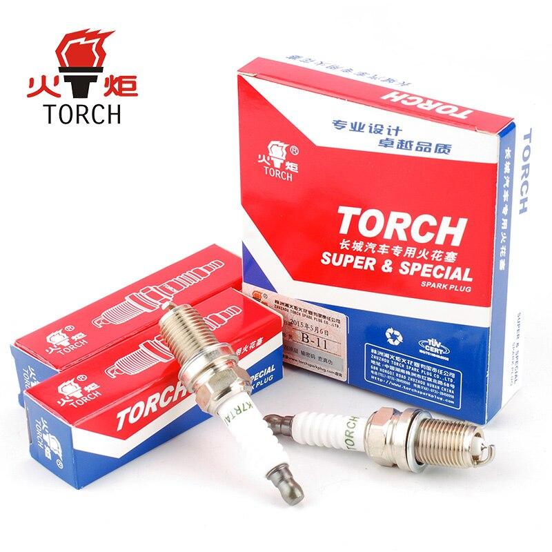 4packs/6packs China original TORCH spark plugs FR7KPP332/IZFR6H11/IK20TT/RC8WMPB4/K7RTAI