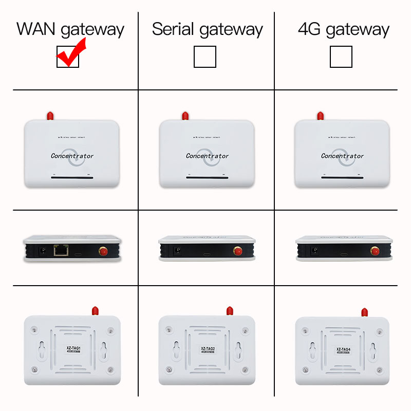 WAN Concentrator/Hub/Receiver for Wireless Temperature Humidity Illuminance Sensor 433mhz/868MHZ/915MHZ customized XZ-TAG1
