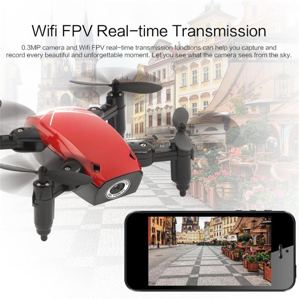 S9W WIFI FPV cámara de 0,3 MP Mini Drone plegable RC Drones Atitude, modo de retención, retorno de una tecla, 360 grados Flip RC Quadcopter RTF