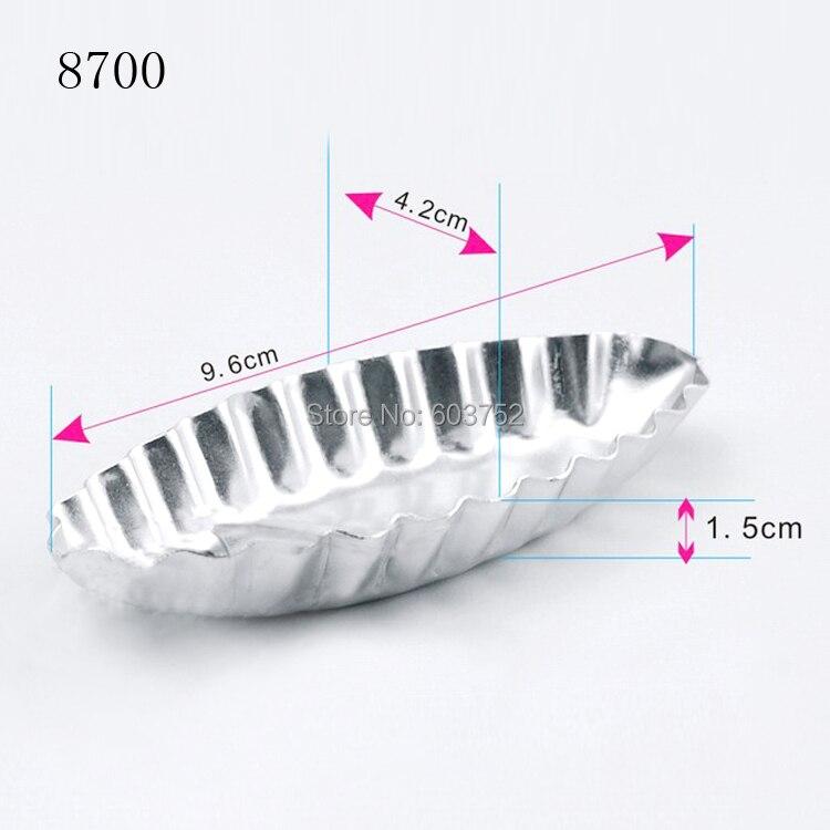 BAKEST 50pcs per lot 3d Wedding Mini Aluminum Alloy Cake Baking Molds Chrysanthemum Ship Shaped Cake Decoration Tools