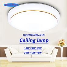Plafond led éclairage lampes moderne chambre salon lampe surface de montage balcon 18 w 24 w 30 w 36 w 40 w 48 w AC85V-260 V plafond