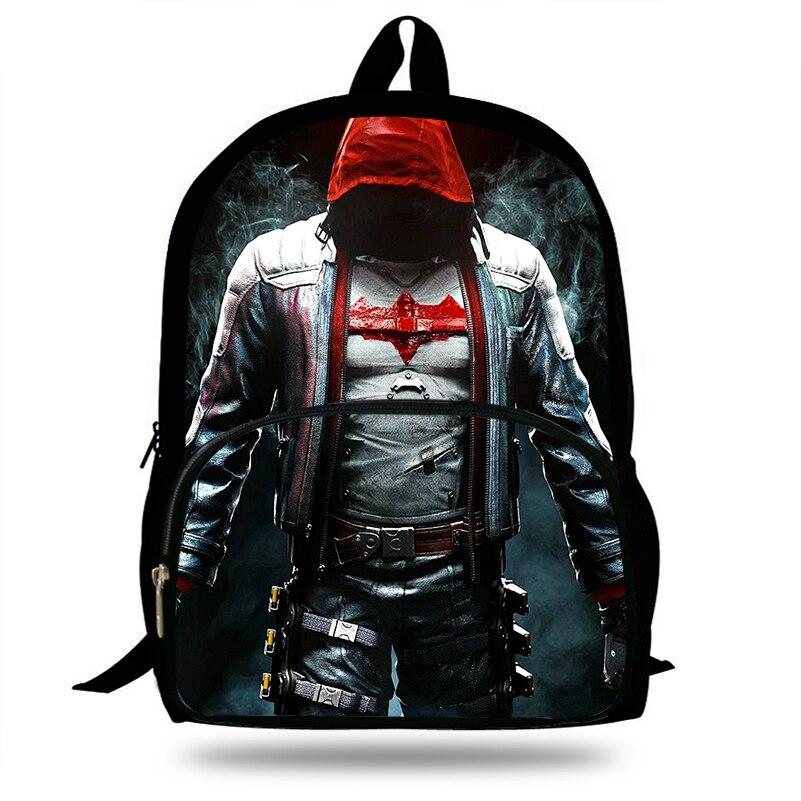 New Popular Red Hood Print Backpack School Bag For Young Men Daily Shoulder Bags Children Boys Laptop Schools Backpack