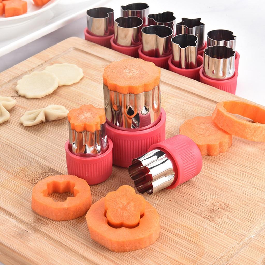 12 pieza en forma de flor de arroz frutas verduras zanahoria pepino molde cortador de pastel corta galletas en forma de pastel hornear herramientas