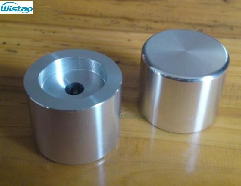 IWISTAO perilla de potenciómetro sólido totalmente de aluminio HIFI amplificador de diámetro exterior 30mm de alto 25mm ID 6mm plata DIY envío gratis