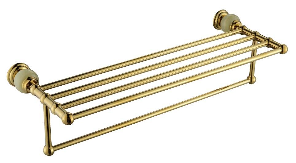 النحاس والحجر الذهبي منشفة الرف ، شريط منشفة الذهب ، حامل منشفة CY008S