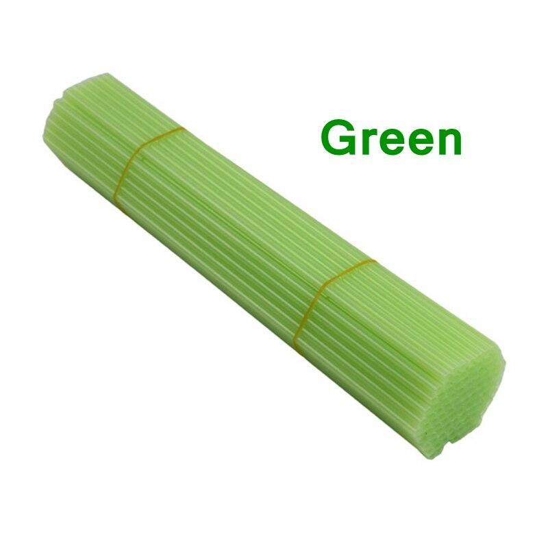 100 قطعة/الوحدة الأخضر اللون النايلون PA ملزمة التثبيت أنبوب 5.2x500 مللي متر تجديد ملزمة آلة الموردين بالجملة