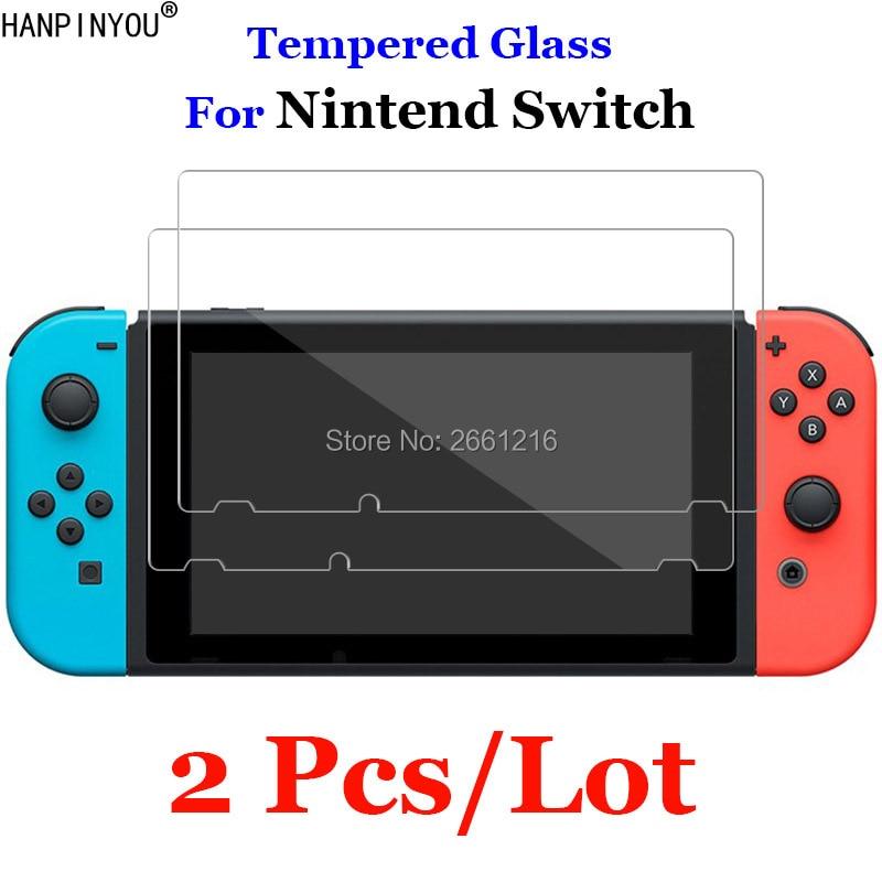 2 unids/lote para Nintend interruptor de vidrio templado 9H 2.5D protector de pantalla Premium película para Nintendo Nitendo Switch NS NX 2017