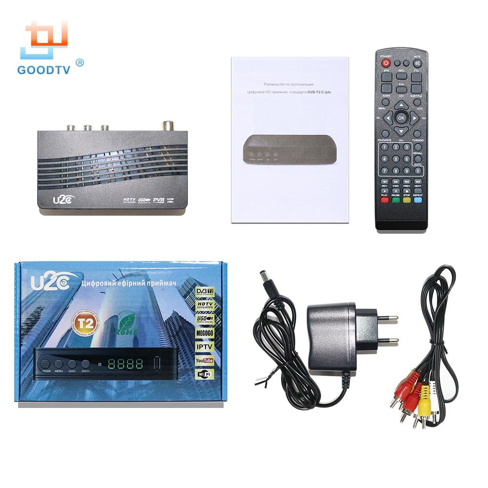 ТВ-приставка U2C, ТВ-ресивер Dvb-t2, ТВ-приставка DVB T2, цифровое видео вещание, Эфирный ресивер DVB T/T2, ТВ-приставка