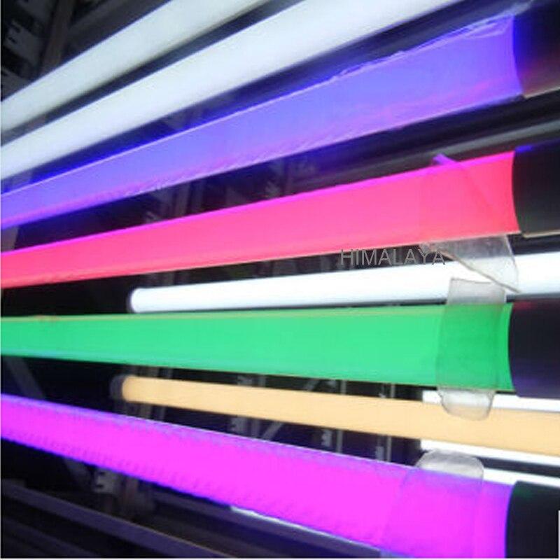 Toika 100 uds/lote 2ft 9W 600MM T8 tubos de luz LED alto brillo Epistar0.6m rojo verde azul tubo colorido 25LM/Uds AC85-265V