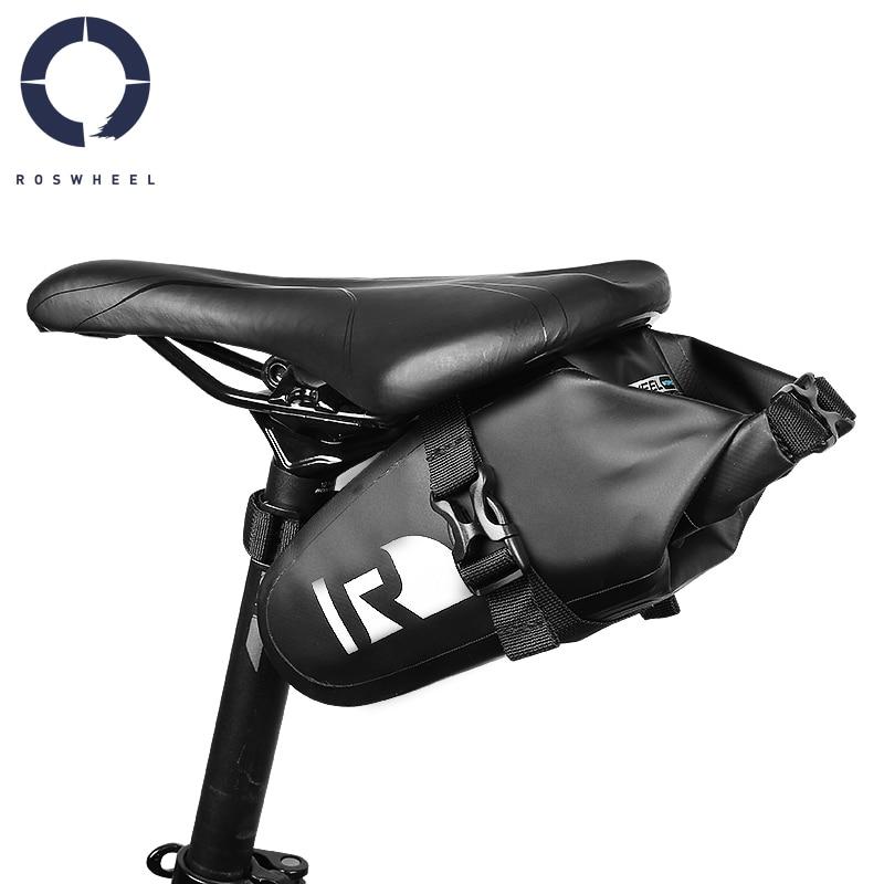 Roswheel Водонепроницаемая горная дорожная велосипедная сумка, велосипедная сумка на танкетке, сумка для заднего сиденья, СУХАЯ Серия 131363