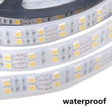 Led Strip Licht 5050 Silicon Buis Touw Lint Waterdicht Ip68 Dubbele Rij 600led 5 M DC-12V 3200K 6500 K wit Warm Wit Rgb Tape