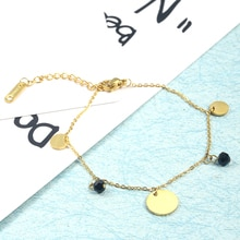 PUN bracelet à breloques bracelets or acier inoxydable or accessoires bijoux pour femmes femme lien de chaîne amitié