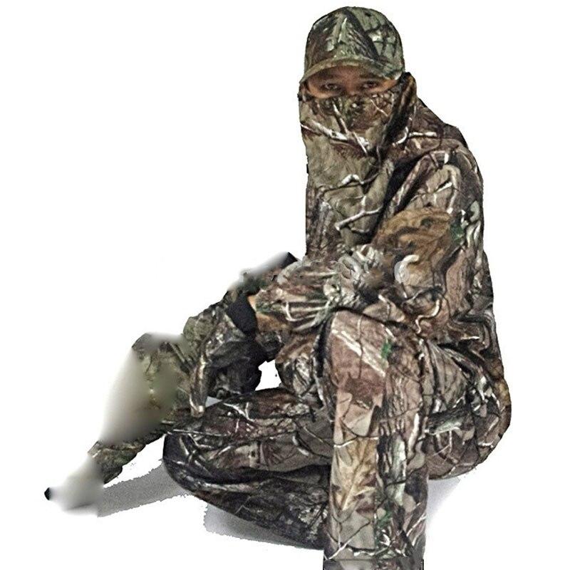 Traje impermeable de camuflaje biónico Ghillie para hombres, ropa de caza con capucha, chaqueta de otoño, pantalones, traje