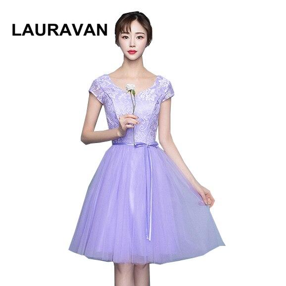 Precioso vestido de fiesta de noche elegante púrpura claro para dama de honor para adolescentes vestidos de ocasión vestido de baile