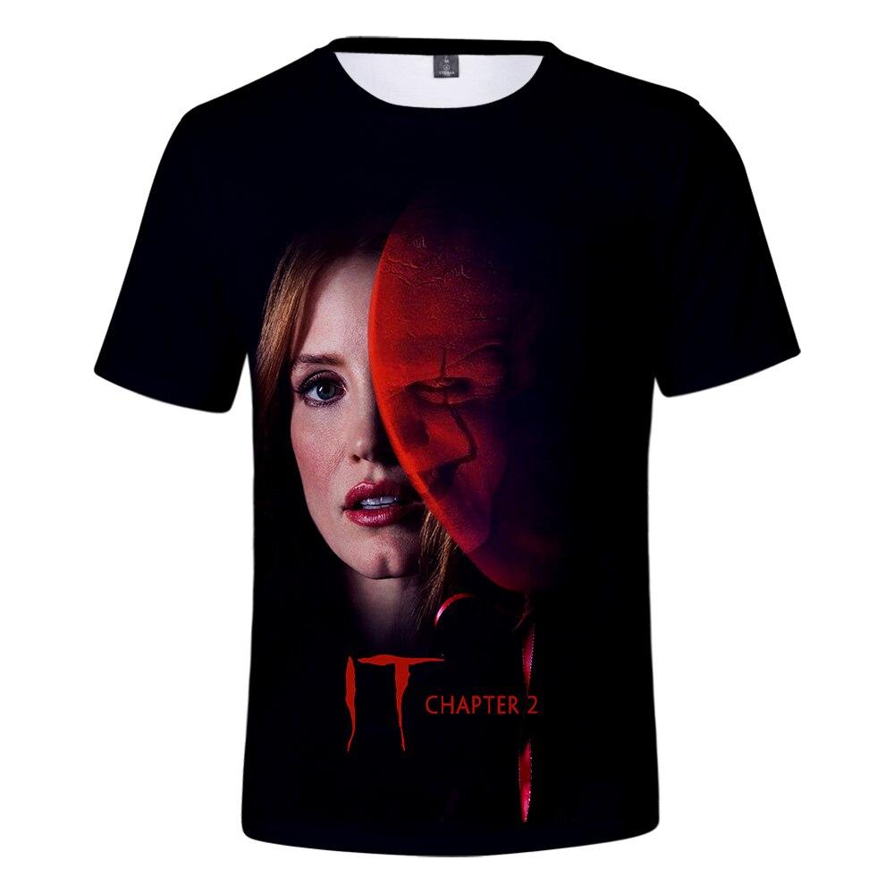 Camiseta holgada t shirt It-chapter 2 3D manga corta estampada It-chapter 2 Casual Comfort 3D camiseta xxs-4xl