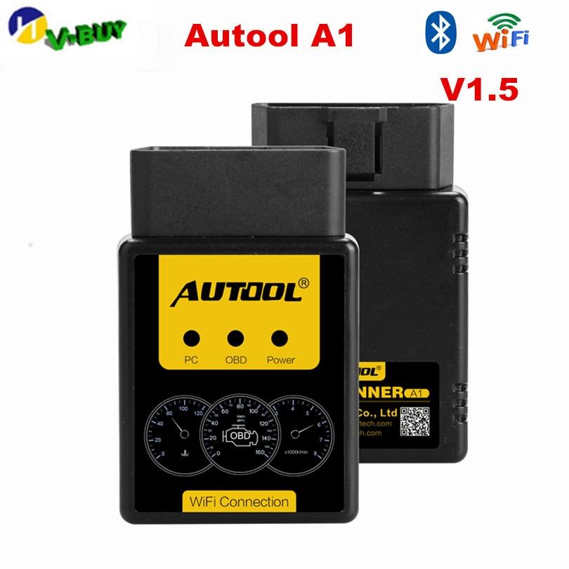 AUTOOL A1 OBD2 сканер V1.5 Bluetooth/WIFI OBD2 OBD II автомобильный диагностический сканер работает на Android лучше, чем ELM327