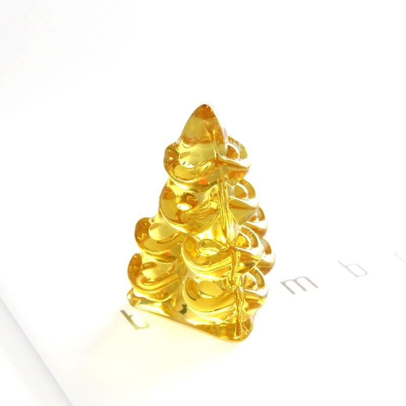 1 pcs Chinês Ornamento Sorte Fengshui Yuanbao Lingote de Ouro Decoração Mascote Crysrtal Vidro Artesanato Feng Shui Auspicioso Sorte Artesanato