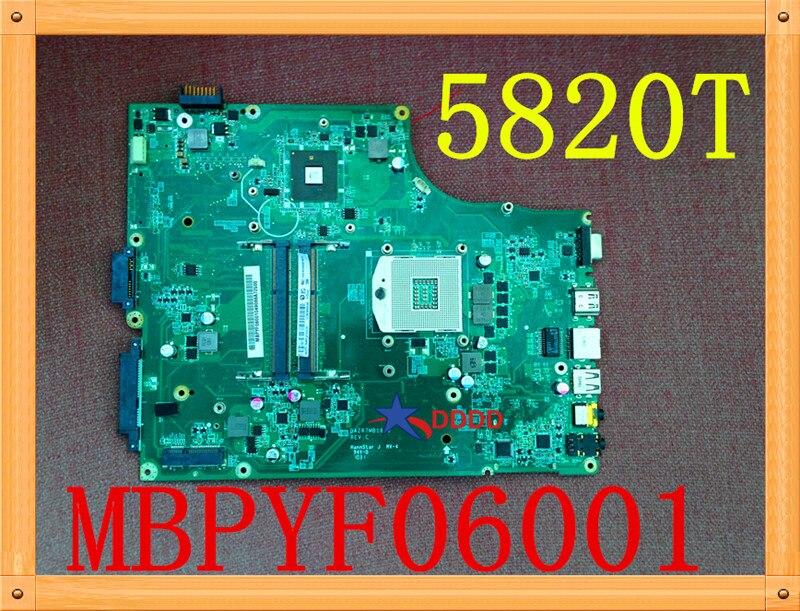 لوحة أم أصلية للكمبيوتر المحمول Acer 5820 5820T لوحة أم MBPYF06001 MB.PYF06.001 DA0ZR7MB16C0 تم اختبارها بالكامل