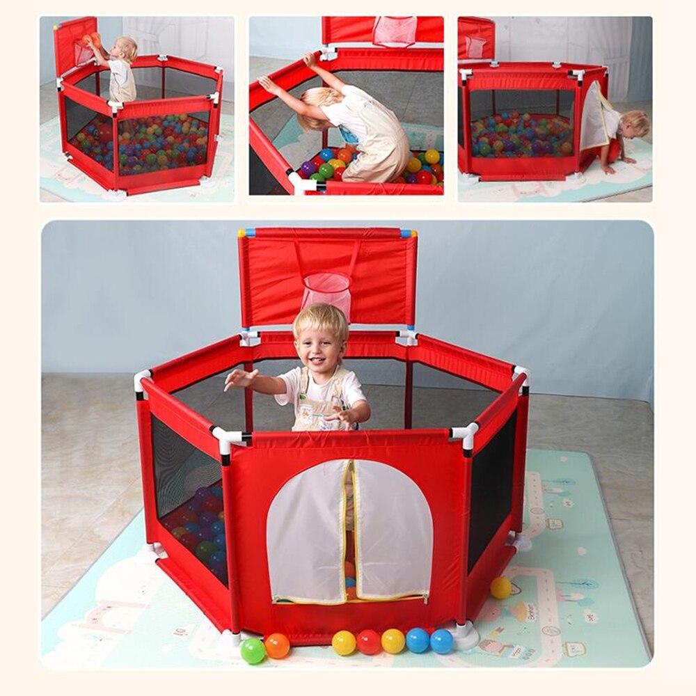 Barreira de Segurança Cerca Bebê Piscina Bola Crianças Cercadinho portátil para Cama Cercadinho 0-6 Anos das Crianças Oxford Pano bolas de bilhar Cerca Criança