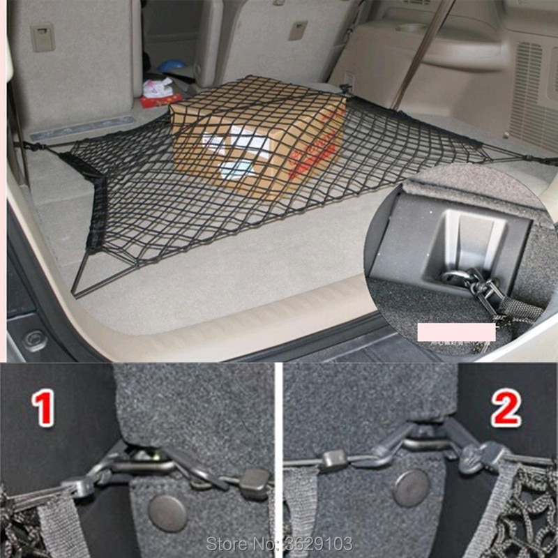 Coche nailon elástico coche de carga trasera baúl de malla de almacenamiento de red estilo de coche para Lexus rx350 rx gs is250 gs300 rx300 nx rx330 gx470 lx470